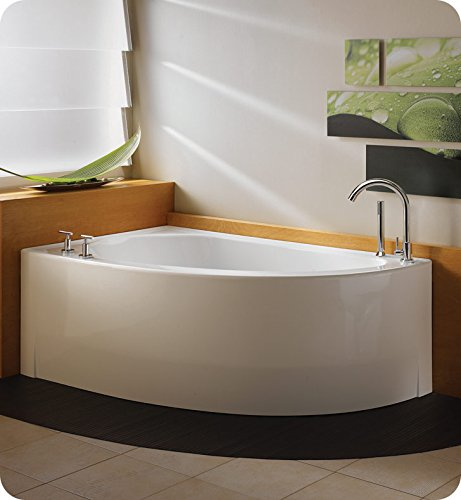 NEPTUNE WIND 60 CORNER SOAKER TUB, RIGHT DRAIN, 59-7/8