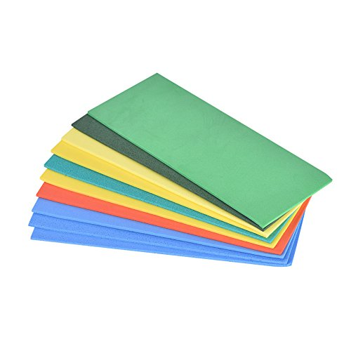 VGEBY 10Pcs Foam Sheets, EVA Multiple Colored Fly Tying Foam Sheets Fishing Baits Foam Sheets Fishing Tackle Accessory