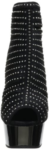 Pleaser mujer cromo peltre 27 para 600 gamuza Botines Negro Delight 4w4vxO7g