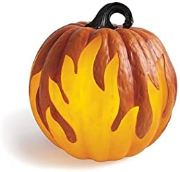 grandin road flame lighted pumpkin 10