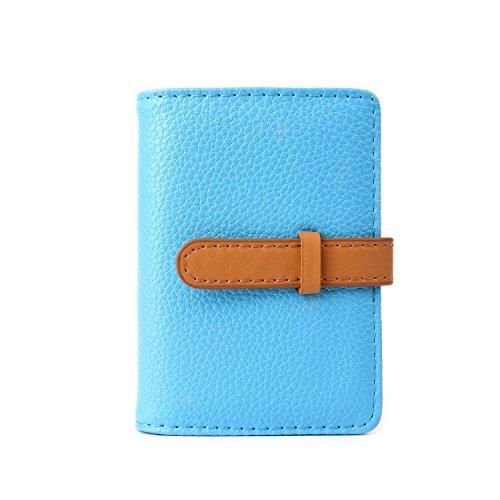 Bleu marron Crédit 26 Femme Couleurs 10 De Cartes Homme Cuir 2 Porte Fentes vO7qfHZ