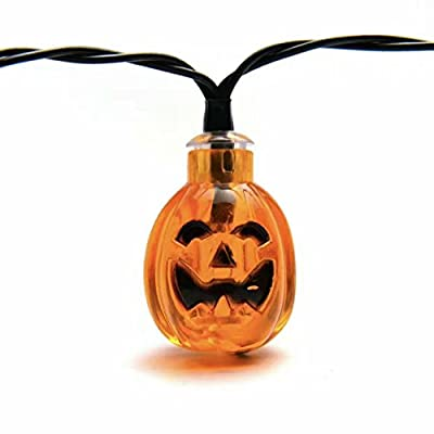 Elsse Outdoor Waterproof Solar Powered Led Fairy String Lights 30 Orange Pumpkin Shape LED
