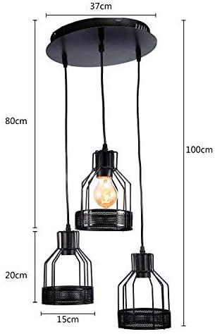 sans ampoule Classe /énerg/étique A Lightsjoy Suspension Style Moderne en Fer Lampe de plafond Lustre Plafonnier Abat Jour Forme G/éom/étrie pour Chambre Salon Salle /à Manger Douile E27
