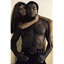 "Globe Photos ArtPrints Raquel Welch And Jim Brown - 8"" X 10"" Pop Culture Art Photographic Full Bleed Print - Premium Paper - 60'S Retro"