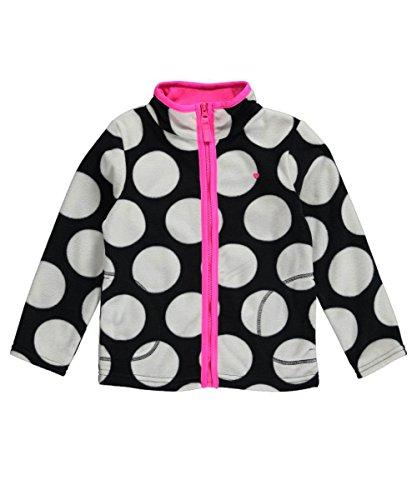 Carter's Little Girls' Zip Microfleece Jacket (4T, Black/...