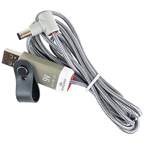 myVolts Ripcord - USB to 9V DC Power Cable Compatible with The Boss WL-50 Wireless System