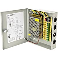 CCTV Power Supply Distribution Box, 12V 10 Amps, 9 Channels