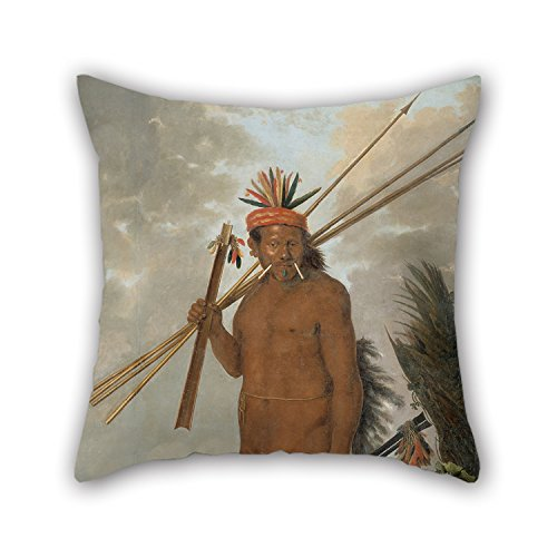 [Loveloveu Oil Painting Albert Eckhout - Tarairiu Man Pillow Cases ,best For Kids Boys,adults,gril Friend,bedding,car,wife 18 X 18 Inches / 45 By 45 Cm(twin] (Bull Rider Costume Toddler)