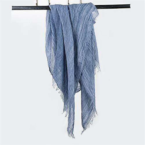 Cotton Scarf Pleated Tie-Dyed Scarf Retro Sunscreen Scarf Scarf Beach Shawl I 190X85Cm