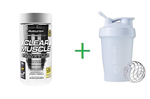 Muscletech, Clear Muscle, 168 Liquid Caps (1 Pack) + Assorted Sundesa, BlenderBottle, Classic With Loop, 20 oz