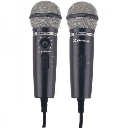 Dual Plug N Sing Handheld Karaoke Microphones ()