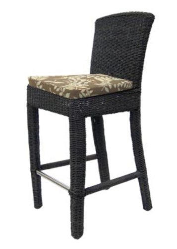 Padma's Plantataion Outdoor Bay Harbor Side Bar Stool - Bar Harbor Rattan