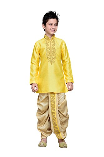 itsindiancrafty Indian Designer Partywear Ethnic Wedding Yellow Wedding Readymade Kid by itsindiancrafty