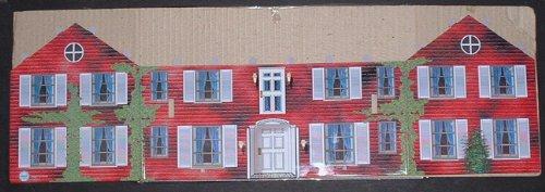 8 Pc Marx Tin Litho Blue-Grey Civil War Mansion Set MOC