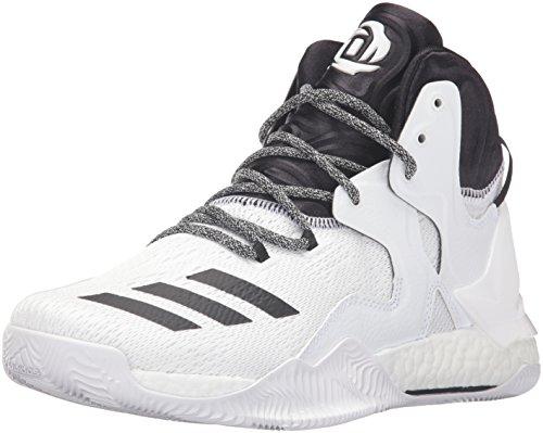 Scarpa Da Basket Adidas Performance Mens D Rose 7 Bianca / Nera Bianca