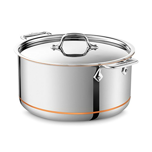 All-Clad Copper-Core Stockpot: 8-QUART - Dutch Steel Copper Stainless Oven