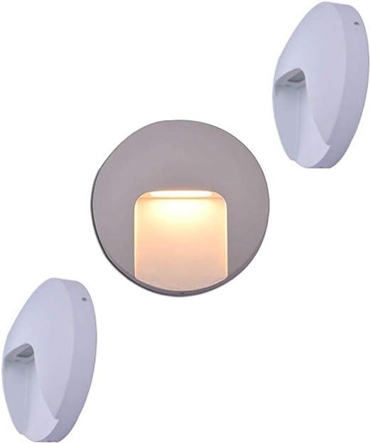 3 Pack LED Lámpara de Pared Nordic Exterior a Prueba de Agua ...