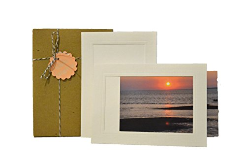 White Collection (Not Bleached, Not Bright White) - 4x6 Photo Insert Note Cards - 24 Pack by Plymouth Cards