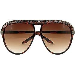 Aviator Style Sunglasses with Chain Trim, Designer Inspired!