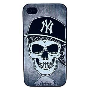 JJE The Skull Cap Pattern Hard Case for iPhone 4/4S