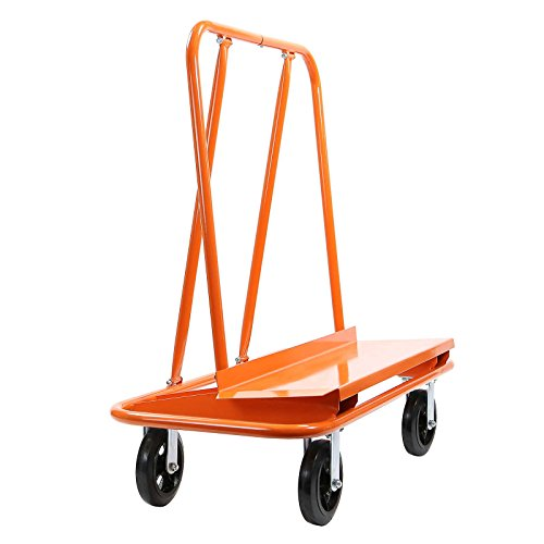GypTool Heavy Duty Drywall Sheet Cart & Panel Dolly with 4 Swivel Wheels - Orange by GypTool