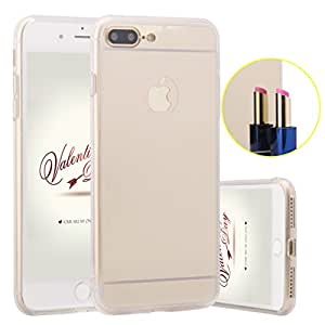 ZXK CO iPhone 7 Plus Funda, Carcasa Silicona TPU para iPhone 7 plus 5.5 Pulgadas Lujo Aluminio Delgada Efecto Espejo Metal Cover Fino Caso Case Dorado
