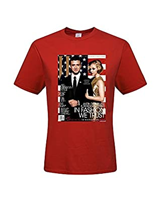 NormVo DIY Justin Timberlake Men's 100% Cotton Short Sleeve T-Shirt