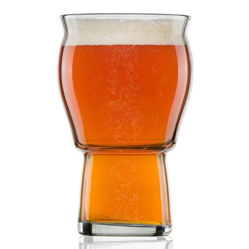 Nucleated Beer Pint Glass- A Beer Glass for Beer Drinkers - Nucleated for Better Head Retention, Aroma and Flavor - 16 oz Craft Beer Glasses IPA for Beer Drinking Bliss - Gift Idea for Men- 1 Pack