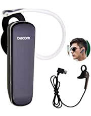 Wireless Bluetooth Headset Stereo Headphone Music Earphone in Ear Earpiece Handsfree Call Earbud Microphone Compatible with Smart Phones Cellphones Android Ios Business Office Car Driver Trucker Black