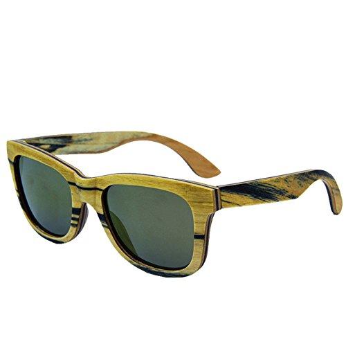 de UV Mano de de los polarizadas Gafas conducción Hombres a de Sol Gafas Personalidad Protección TAC de Hechas Aclth Sol Madera Tiras Gafas de Lente Sol Playa Gafa Retro de de Gafas de Sol PqYwnBF