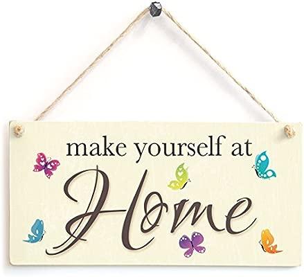 Siéntete como en casa - cartel de madera regalo de ...