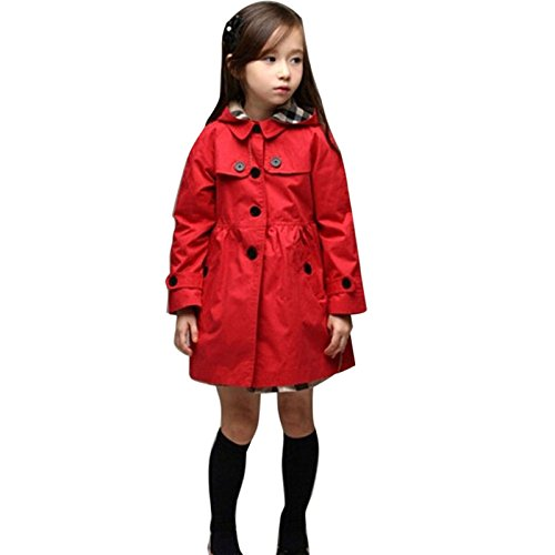 c2fcfcffe Amazon.com   Shuxen(TM) BS S Baby Toddler Girls Trench Coat Kids ...