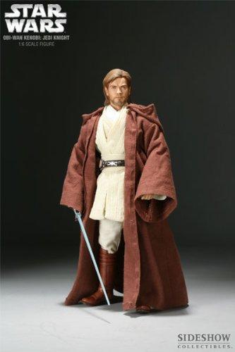 Sideshow Exclusive Order of the Jedi Star Wars Episode II: Attack of the Clones Obi-Wan Kenobi Jedi Knight Deluxe 12 Inch 1/6 Scale Action Figure (12 Inch Obi Wan Kenobi Episode)