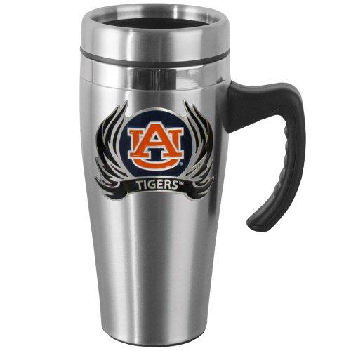 (NCAA Auburn Tigers Steel Flame Style Logo Travel Mug with Handle)