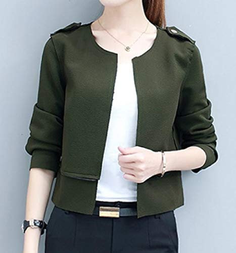 Removable Cardigan Women Classic Knee Army Coat Length XINHEO Green Fit Trench 6X7wY