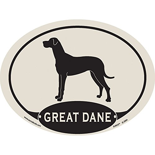 European Style Great Dane Auto Decal
