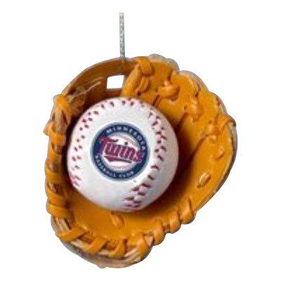 Minnesota Twins Ball and Glove Christmas Ornament by Kurt Adler