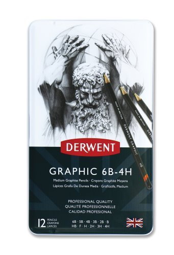 derwent-graphic-drawing-pencils-medium-metal-tin-12-count-34214