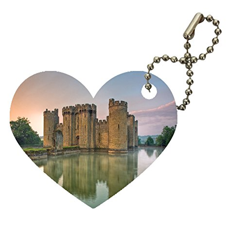 Castle Design Keychain - Castle Heart Keychain by Sorem Designs