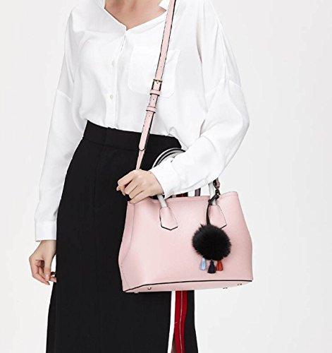 Bande Solide Féminine Sac Cross De Nouveau Body Dessinée Femmes à Pink Casual Main à GSHGA Totes Messenger Bag Bandoulière Sac Pink Sacs Couleur 5nztwU