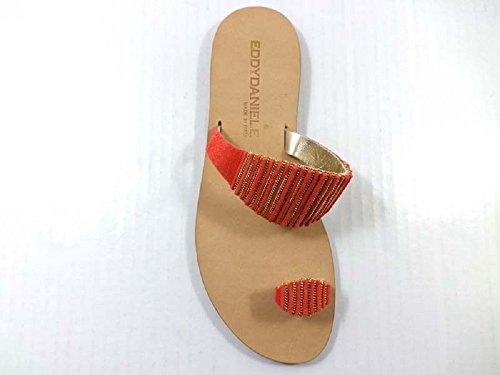 Zapatos Mujer EDDY DANIELE 37 EU Sandalias Gamuza Naranja AX932