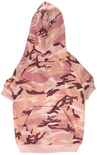 "Casual Canine Camo Hoodie for Dogs, 13"" Medium, Pink"