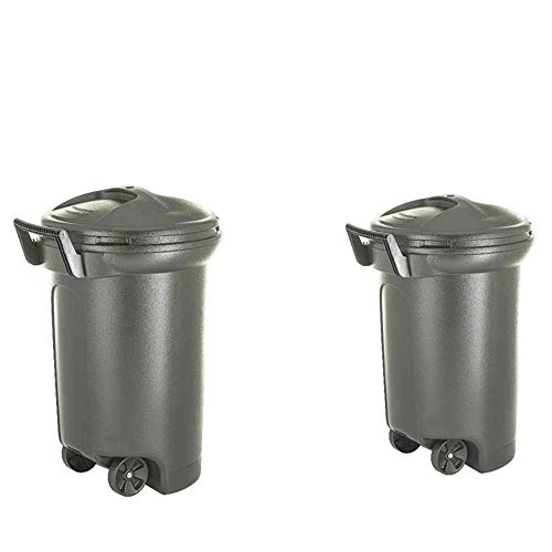 31 Gallon Trash Can Rolling 2-Pack Set Garbage Container Pet Food Storage Bin Commercial Industrial & eBook