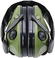 Misright Protetor de ouvido eletrônico com cancelamento de ruído, proteção para tiro e caça (verde)