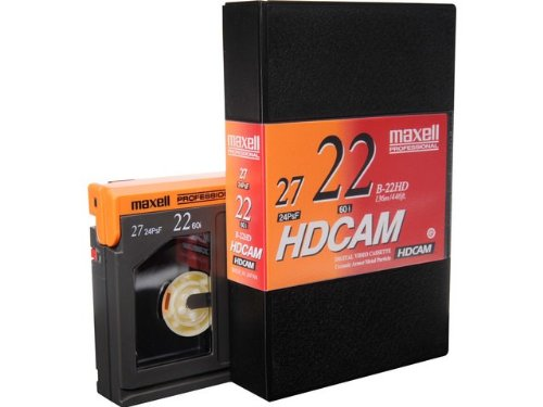 Box of 10 Maxell B-22HD HDCAM Video Tape, 22 Minute, Small by HD cam