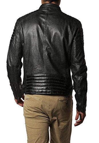 De Piel Exemplar Hombre Kl300 Cordero Kl658 Para Cuero Chaqueta Negro 1A17Wn5