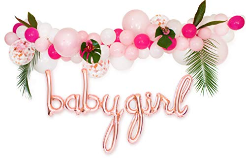 Baby Shower Decorations for Girl | Girls Baby Shower Decorations | It's a Girl | Balloon Garland Kit with 11