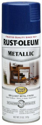 Rust-Oleum 7251830 Stops Rust Metallic Spray, 11-Ounce, Cobalt Blue
