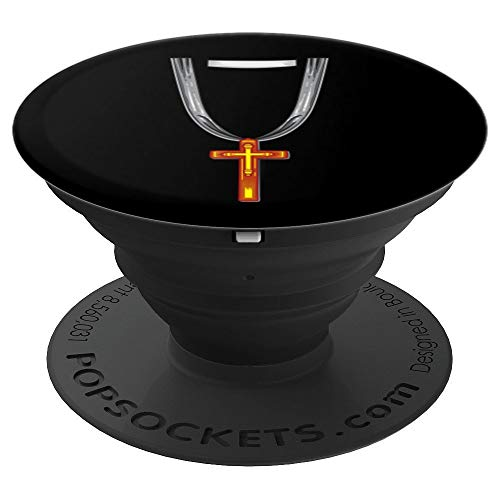 Preacher Costume Halloween Art - Priest Or Evangelist Gift - PopSockets Grip and Stand for Phones and Tablets -