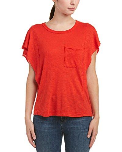 Splendid Womens Pocket T-Shirt, L, Red